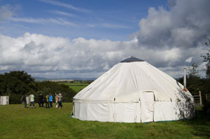 Large teaching yurt at Landmatters